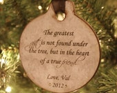 Personalized Christmas Ornament, Friend Ornament, Best Friend Ornament, Friend Personalized, Personalized Family, Sister Ornament, Family