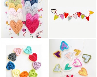 Crochet Hearts Patterns Ebook - Instant Download