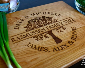 Personalized Cutting Board - Custom Engraved - Wedding Gift, Housewarming Gift, Anniversary Gift