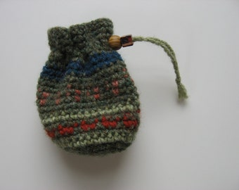 wool drawstring pouch medicine dice bag