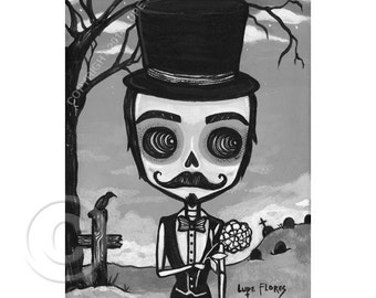 Guillermo the gentleman 5x7 print by Lupe Flores