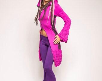 Pink Coat- Fairy Jacket- Fairy Coat- Ruffle Coat