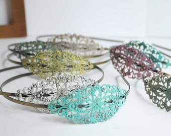 Shabby Chic Headband - Filigree Headband - Rustic Headband - Gifts for Her - Gifts under 15 - Gift for Girl - Bridesmaid Gift