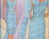Duplet 168 Crochet Flower Cat Patterns Dress Bruges Motives Irish Lace women's lace dress top skirt cardigan Magazine