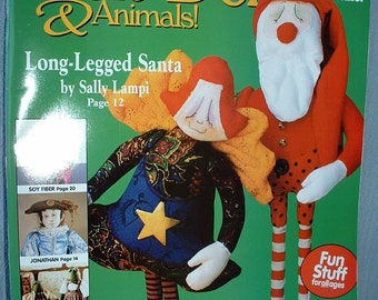 Magazine, Soft Dolls & Animals, Issue January 2004, Santa, Sewing, 4 complete Size Patterns