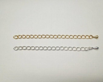 Add An Extender. Add On. Gold or Silver Necklace Extender. Adjustable Extender. Gold Filled Extender Chain. Sterling Silver Extender Chain.