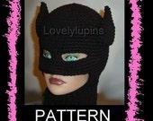 Batman crochet hat, batman pattern, batman beanie, batman hat pattern, chapeau femme, batman pattern, crochet batman  pattern