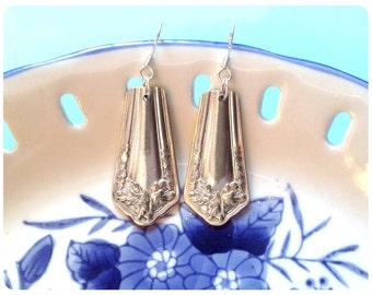 Fair Oak, 1913 Spoon Earrings, Vintage, Upcycled, Bridesmaid Gift, Vintage Wedding