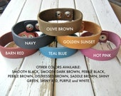 Bulk 50 PACK - SPECIAL ORDER - 3/4 Inch Wide Genuine  Leather Cuff Bracelet - You Choose Color Mix - Cuff Wristband - Cuff Blank