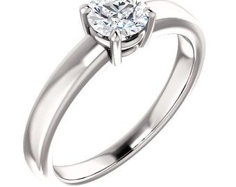 1/2ct  EGL Certified Diamond F Color  SI2 Clarity Solitaire  Engagement Ring In 14k White Gold ST82770