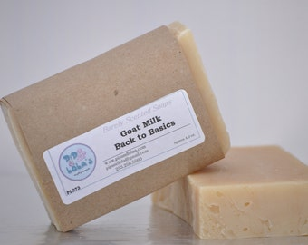 "Goat Milk ""Back to Basics"" Soap -- All Natural Soap, Handmade Soap, Unscented Soap, Hot Process Soap, Vegetarian Soap, Goat Milk Soap"
