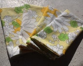 Green, Yellow, and White Floral Print Napkins