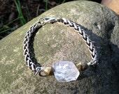 Raw Quartz Bracelet