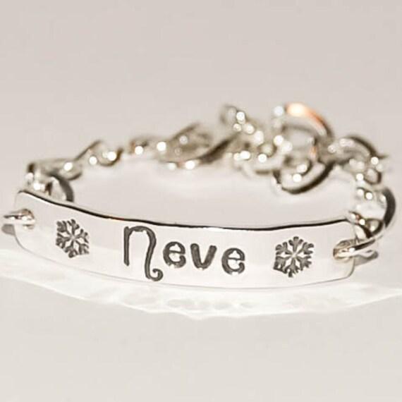 I D bracelet with design, sterling silver id bracelet, personalized bracelet, girls gift, identification bracelet, silver name bracelet