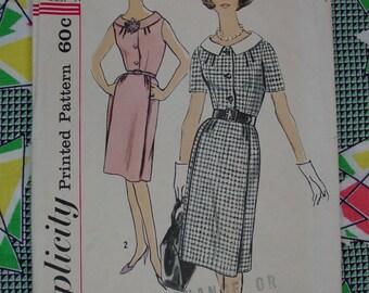 Vintage Pattern c.1960's Simplicity No.4386 Dress, Size 20 1/2, Bust 41