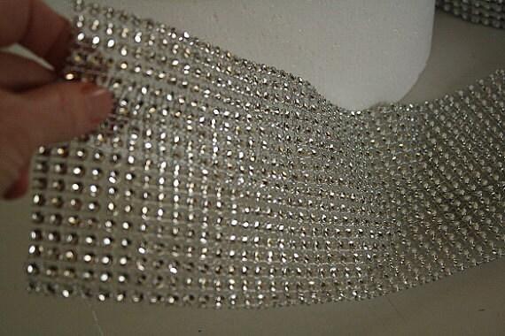 Impacco di strass argento per decorazione torta, 12