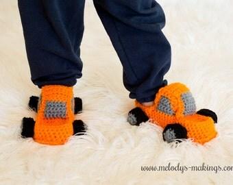 Slippers Crochet Pattern for Boys - Monster Truck Crochet Pattern - Slippers Crochet Pattern - Kid Slippers Pattern - Child Slippers Pattern