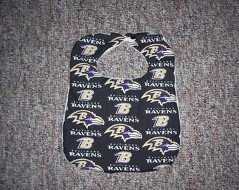 Handmade Baltimore Ravens Bib
