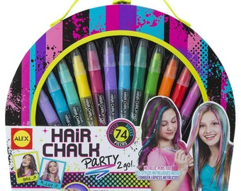 Hair Chalk Party 2 Go Kit - Washable Hair Chalk & Accessories Set for Kids Crafts  (171463)