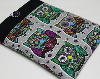 "Laptop case-11"",13"",14"",15"",17""Macbook,MS SurfacePro,LenovoYoga,Sumsung chromebook,Acer, Hp, ASUS-padded-POCKETS-Owls"