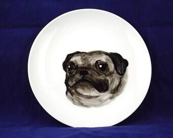 Pug decorative plate