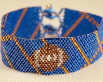 Denver Broncos beaded bracelet