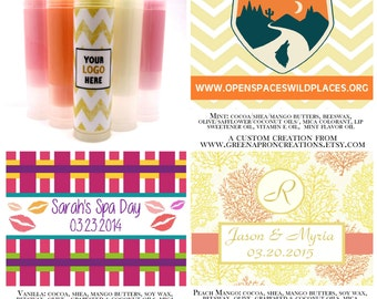 300 Count Customizable Lip Balms & Labels - Great Favor/Promotional Items - Vegan Options Available