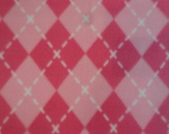 Plush Pink Diamonds Fleece Stroller/ Carseat/ Receiving/ Security Blanket