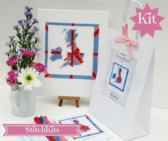 Cool Britannia, cross stitch kit