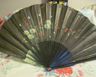 Vintage Decorative Painted Fan