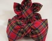 Dog Flower or Bow Tie  - Tartan Plaid
