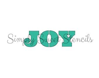 Joy Word Stencil