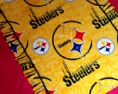 STEELERS football team fan blanket, original tied knotted edge