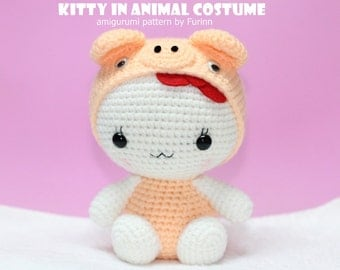 PDF Pattern Kitty in Pig Costume / Chinese Zodiac  Pig