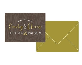 Camp Wedding Save the Date