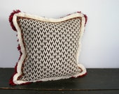 Modern Muliti Fringe and Jacquard Arrows Textural Throw Pillow