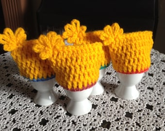 Crochet Egg Cosies. Egg Warmers.Easter Gifts.Eggs Decor.Set of 4