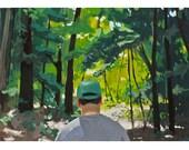 "5x7"" print - landscape - ""Walk in the Woods"""
