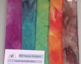 Hand-dyed Silk Fabric