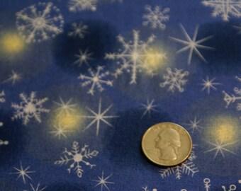 """34 1/4"""" x 44"""" Wide Christmas Snowflake Print Fabric"""