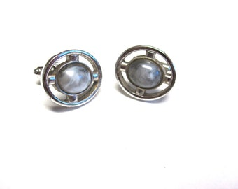 Vintage Cuff links Gray Silver Speidel
