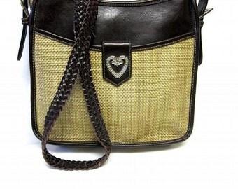 Western Purse Tan Weave Handbag