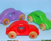 LOVE BUG Wooden Cars - (Set of 3) a great gift idea