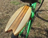 Fish Surfboard Rear Bike Rack Solid Cherry and Poplar