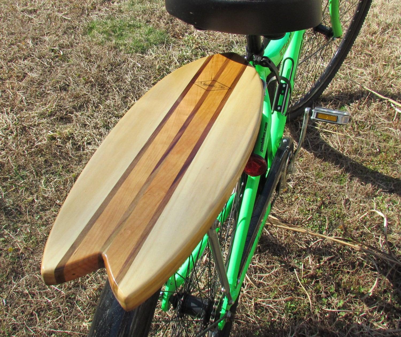 Fish Surfboard Rear Bike Rack Solid Cherry And Poplar