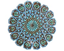 Moroccan wall decor made from ceramic - exterior moroccan wall art ...