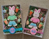 Easter Cookies - Segmented Easter Bunny Easter Egg Carrot - 7 Piece Gift Set
