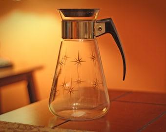 Vintage Corning Glass / Gold Carafe