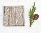 Drink Coasters Cable Knit Four Colors to Choose Winter Christmas Gift Hostess Housewarming Gift Ceramic Tile Coasters