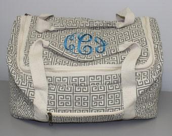 Sale - Monogrammed Duffle Bag - Monogrammed weekender bag - Personalized Bag